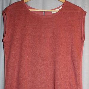 Burnt Orange Adrienne Vittadini sleeveless top